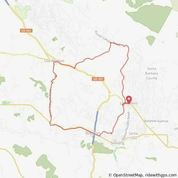 Cycling Christine Los Olivos Loop Route