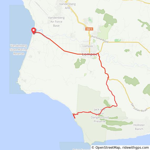 Cycling Jalama Beach Route