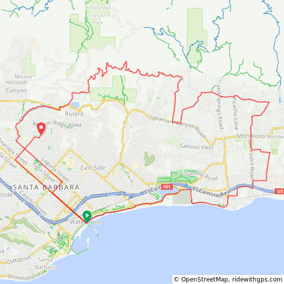 Cycling Mountain Drive Loop Route