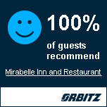 100% of guests recommend Mirabelle Inn and Restaurant by Orbitz